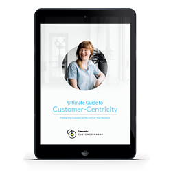 eBook on tablet: Ultimate Guide to Customer-Centricity